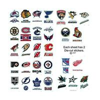 Complete Set 30 - 60 NHL Hockey Team Jersey Logo Sports Stickers - 2 Stickers...