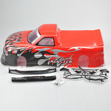 190MM Painted PVC Body Shell For HSP HPI 1:10 RC Car Drift Car +Rear Wing 029R
