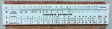 Concrete Slide Ruler 200 Yard Volume Calculator Slide Rule Made in USA