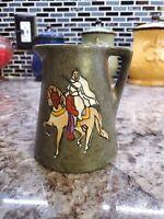 Antique Stellmacher Teplitz Arts and Crafts Earthenware pottery pitcher vase