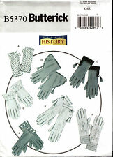 Butterick Sewing Pattern B5370 5370 Making History Historical Gloves NEW