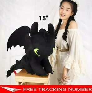 """15"""" TOOTHLESS How to Train Your Dragon 3 DreamWorks Movie Doll Plush Toys Gift"""