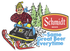 Vintage Reproduction Schmidt Beer Snowmobile Decal