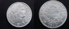 5 Francs Argent 1809 B - Napoléon Empereur -