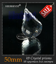 10 Clear Chandelier Glass Crystals Lamp Prisms Hanging Pendants Suncatchers 50mm