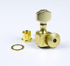 Sperzel Trimlok 6 inline staggered Satin Gold locking tuners