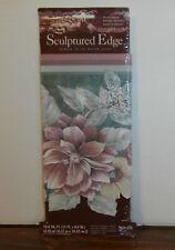 "Floral Sunworthy Sculptured Edge Border Wallpaper 15' x 8"" Pink Green Tan"