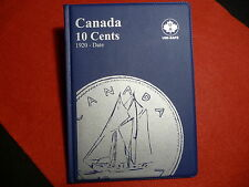 UNI-SAFE  CANADIAN  TEN  CENTS  FOLDER  ALBUM  BLUE  (1920 - TO DATE  ) (#3)