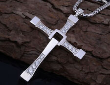 Unisex's Men Women Gold Silver Cross Necklace Pendant Chain Fashion Jewelry