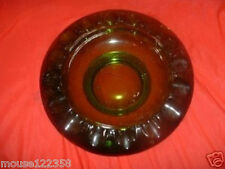 Vintage Large Green Glass Ashtray   Cigar huge