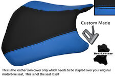 BLACK & LIGHT BLUE CUSTOM FITS HONDA CBR 600 RR5 RR6 05-06 FRONT SEAT COVER