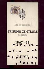 Calcio-football juventus Abbonamento  1967/68