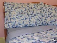 Cotton Queen Size Blue Floral Comforter Cover/ Duvet Cover Sheet Set Checks 4pc