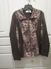 Zenergy Chicos Womens Size 2 Lightweight Jacket Zippered Chocolate Brown Nice