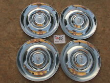 "1954,1955 LINCOLN CAPRI, COSMOPOLITAN 15"" WHEEL COVERS, HUBCAPS SET OF 4"