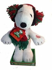 Dan Dee Dancing Animated Plush Snoopy with Ear Muffs 12 inch