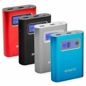 NINETEC 13.400mAh Powerbank 2in1 + 16/32/64GB Speicher Power Bank Akku Batterie