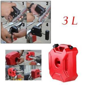 3L Plastic Jerry Cans Gas Container Diesel Fuel Tank Car Motorcycle w/Lock Well