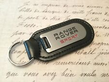 RANGE ROVER SPORT BLACK LEATHER KEY RING FOB ETCHED ABD INFILLED 576dc6951