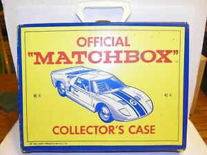 Matchbox 1966 48 Car Folding Carrying Case blue w/ #41 Ford GT-40 on covers