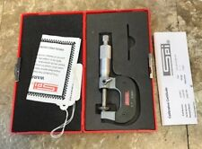 "USED SPI 0-1"" 0.0001"" BLADE MICROMETER WITH CASE"