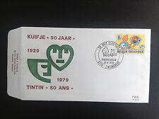 Rare FDC Enveloppe Timbres Tintin 1979  TBE