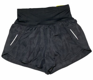 Womens All In Motion Run Running Shorts Size XS Black Inner Pant Waist Pocket