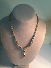Swarovski brand signed crystal droplet Y necklace