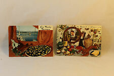 Vtg Recipe Postcards 2 French Les Moules Marinire Homard á l'Armoricaine Bernard