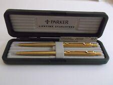 PARKER CLASSIC GRAIN D ' ORANGE 22K GOLD ELECTROPLATE BALLPOINT PEN /.5mm pencil