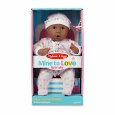 MELISSA & DOUG MINE TO LOVE BABY DOLL GABRIELLE AFRICAN AMERICAN NEW
