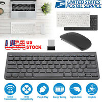 Wireless Keyboard & Mouse Combo Full-Size 2.4GHz Silent USB for Desktop / Laptop