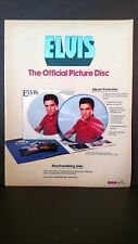ELVIS PRESLEY The Official Picture Disc  1978 Original Promo Poster Ad