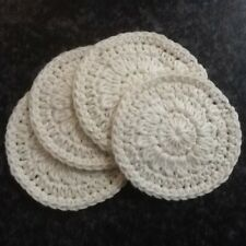 Handmade Crochet Coton Eco Friendly face Scrubbies, Set de 4