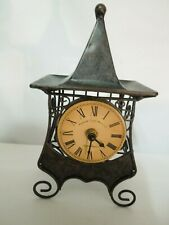 Vintage Metal Desk / Shelf Quartz Clock Edinburgh Clock Works Co. London England
