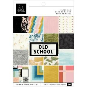 "Heidi Swapp 6""x8"" Paper Pad Old Schoole  36pg, Single Sided"