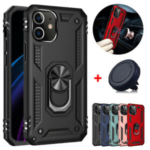 For iPhone 12 12 Pro 12 Mini 12 Pro Max Case Magnetic Ring Stand Cover+Car Mount