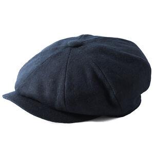 Failsworth Hats Alfie Melton Wool Bakerboy Cap - Navy