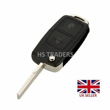 2 Button Uncut Floding Flip Blank Remote Key Case for VW BORA GOLF MK4 + LOGO