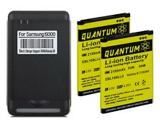 2X QUANTUM Replacement Battery + Charger for Samsung Galaxy S3 12 Month Warranty
