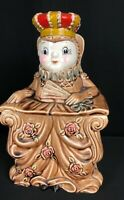Vintage Ole Queen Cole Cookie Jar 1950's Excellent Used Condition Nursery Rhyme