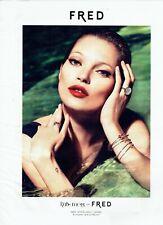 Publicité Advertising 099  2012     Kate Moss for Fred  joaillier  bijoux