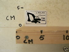 STICKER,DECAL DE ATLAS UIT OLDENDORP PIRATENZENDER ? FM 101 GRAAFMACHINE WIT