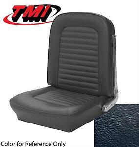 1964-1965 MUSTANG - CONVERTIBLE Full Seat Upholstery BLACK Buckets TMI