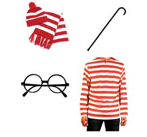 Book Week Wheres Wally Costume Red White Striped Top Waldo Wenda Cosplay