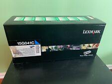 Lexmark 15G041C Cyan Toner Cartridge for C752, C752L, C760, C762, X752, X762