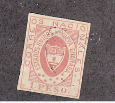 Colombia - 1861 - SC 18 - Used - repairable tear at bottom