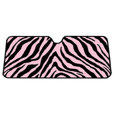 Original Pink & Black Zebra Print Windshield Sun Shade Visor for Car Truck SUV