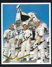 Apollo 12 Full Crew signed 8x10 NASA Litho Beckett Authentic Conrad, Bean ...