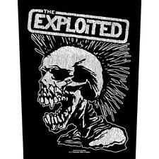 THE EXPLOITED -  Rückenaufnäher Backpatch Vintage Skull